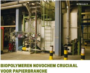 Novochem cruciaal voor papiermachines
